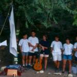 Imagen25_Sendamsde_Poyales del Hoyo (Avila)1993_ JL Olmedo recibe el amanecer Verde