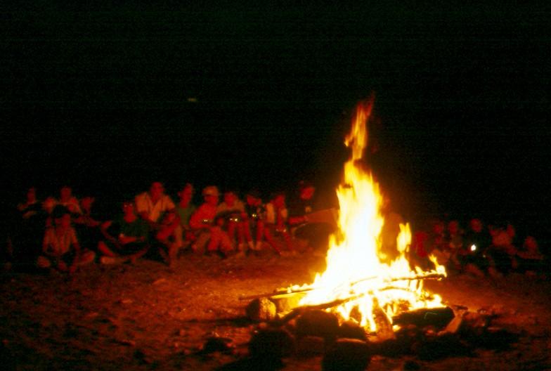 Guisando (Avila) 1986- Fuego de Campamento